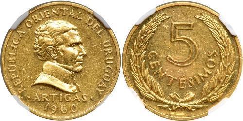 5 Сентесимо Уругвай Золото Артигас, Хосе Хервасио