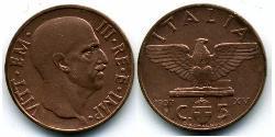 5 Сентесімо Kingdom of Italy (1861-1946) Бронза/Алюміній