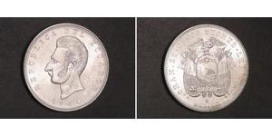 5 Сукре Еквадор Срібло Антоніо Хосе де Сукре (1795 - 1830)