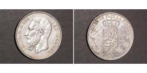 5 Франк Бельгия Серебро Леопольд II (1835 - 1909)