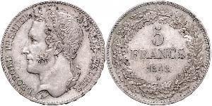 5 Франк Бельгия Серебро Леопольд I (король Бельгии) (1790-1865)