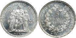 5 Франк Третья французская республика (1870-1940)  Серебро