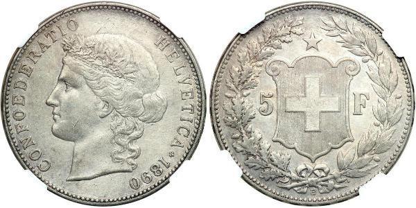 5 Франк Швейцария Серебро