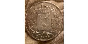 5 Франк Kingdom of France (1815-1830) Серебро Карл X король Франции (1757-1836)