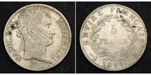 5 Франк Перша Французька імперія (1804-1814) Срібло Наполеон I Бонапарт(1769 - 1821)