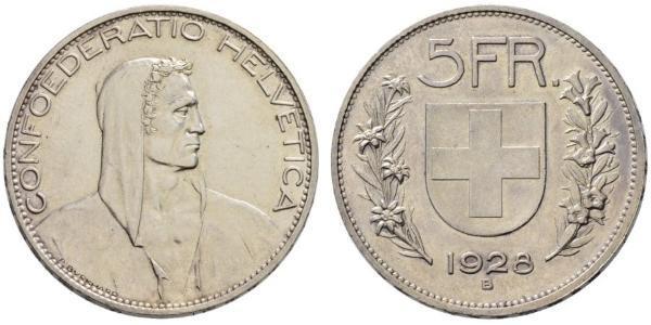 5 Франк Швейцарія Срібло