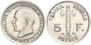 5 Франк Vichy France (1940-1944)  Філіпп Петен
