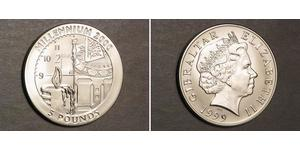 5 Фунт Гибралтар Серебро Елизавета II (1926-)