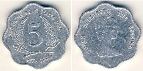 5 Цент  Алюміній Єлизавета II (1926-)
