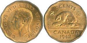 5 Цент Канада Никель