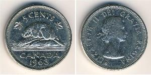 5 Цент Канада Никель/Медь Елизавета II (1926-)