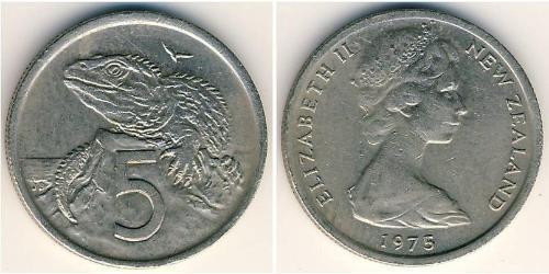5 Цент Новая Зеландия Никель/Медь Елизавета II (1926-)