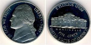 5 Цент США (1776 - ) Нікель/Мідь