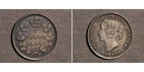 5 Цент Канада Серебро Виктория (1819 - 1901)