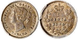 5 Цент Канада Срібло Вікторія (1819 - 1901)