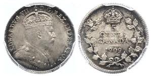 5 Цент Канада Срібло Едвард VII (1841-1910)