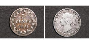 5 Цент Ньюфаундленд і Лабрадор Срібло Вікторія (1819 - 1901)