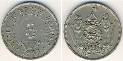 5 Цент Північний Борнео (1882-1963)