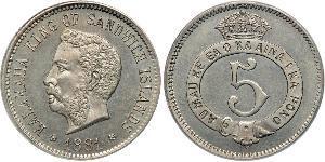 5 Цент США (1776 - )  Калакауа
