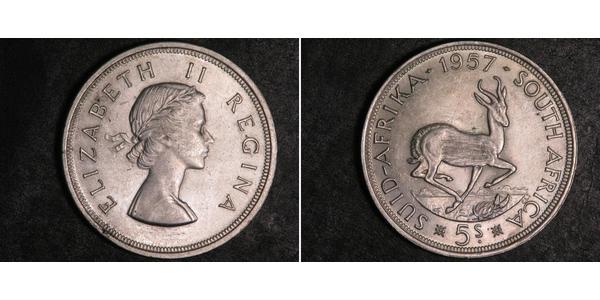 5 Шилінг Південно-Африканська Республіка Срібло Єлизавета II (1926-)