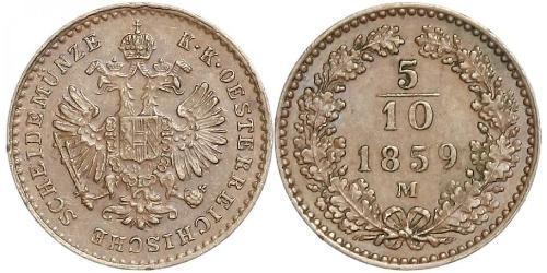 5/10 Kreuzer 奧地利帝國 (1804 - 1867) 銅