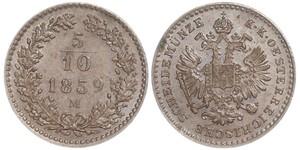 5/10 Kreuzer Imperio austríaco (1804-1867) Cobre