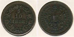 5/10 Kreuzer Austrian Empire (1804-1867) Copper