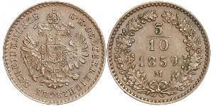 5/10 Kreuzer Impero austriaco (1804-1867) Rame