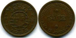 5 Avo Portugal / Macau (1862 - 1999) Bronze