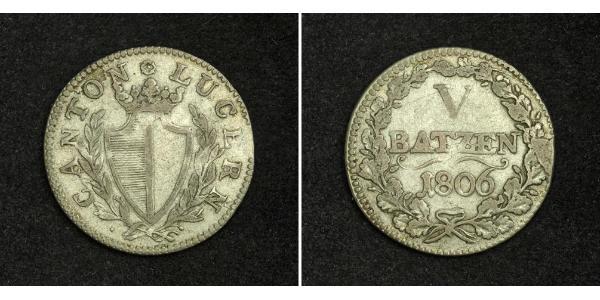 5 Batz Switzerland Silver