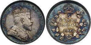 5 Cent 加拿大 銀 爱德华七世 (1841-1910)