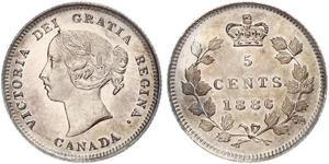 5 Cent 加拿大 銀 维多利亚 (英国君主)