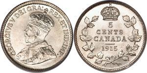 5 Cent 加拿大 銀 乔治五世  (1865-1936)