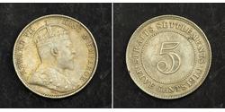 5 Cent 海峡殖民地 銀 爱德华七世 (1841-1910)