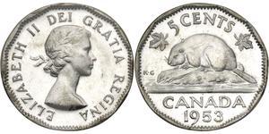 5 Cent 加拿大 銅/镍 伊丽莎白二世 (1926-)