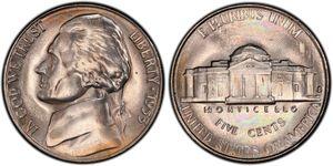 5 Cent 美利堅合眾國 (1776 - ) 銅/镍 Thomas Jefferson (1743-1826)