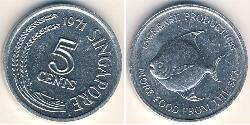 5 Cent Singapur Aluminium