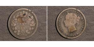 5 Cent Canada Argent Victoria (1819 - 1901)