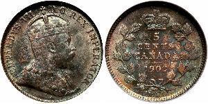 5 Cent Canada Argent Édouard VII (1841-1910)