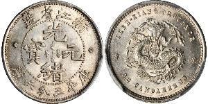 5 Cent Chine Argent Guangxu