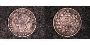 5 Cent Canada Argento Vittoria (1819 - 1901)