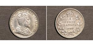 5 Cent Canada Argento Edoardo VII (1841-1910)