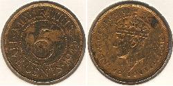 5 Cent Mauritius Bronze