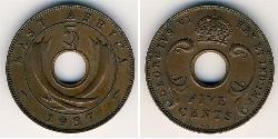 5 Cent Ostafrika Bronze