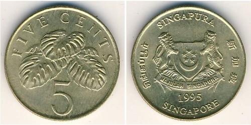 5 Cent Singapur Bronze
