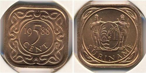 5 Cent Suriname Bronze