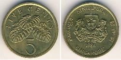 5 Cent Singapur Bronze/Aluminium