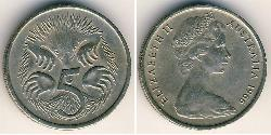 5 Cent Australia (1939 - ) Copper/Nickel Elizabeth II (1926-)