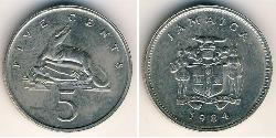 5 Cent Jamaica (1962 - ) Copper/Nickel