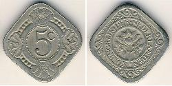 5 Cent Kingdom of the Netherlands (1815 - ) Copper/Nickel